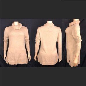 H by Halston Turtleneck knit oversized sweater